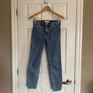 Abercrombie Kids High-Rise Ankle Skinny Jeans